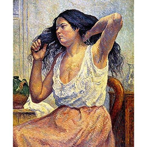 20 x 60,96 cm OdsanArt Impresionismo retratos personas Madame Bouin ella para inodoro con tapa (también conocida como la cabeza de mujer peinando) by Maximilien Luce Póster de artstore
