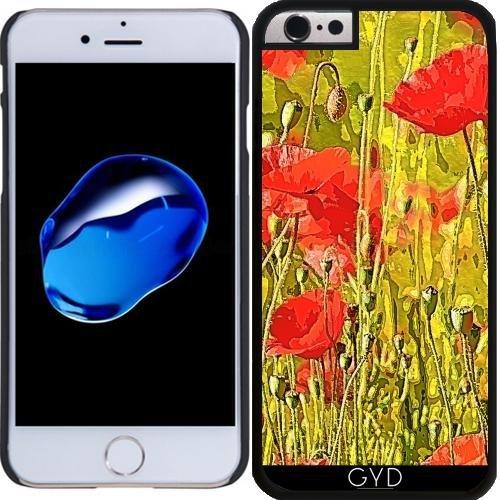 Coque pour Iphone 5/5S - Coquelicots Dans La Prairie by More colors in life Plastique Rigide