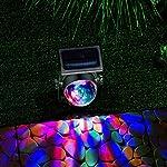 GloBrite Solar Powered Colour Changing Revolving LED Spotlight Carnival Garden Party Stake Light 8