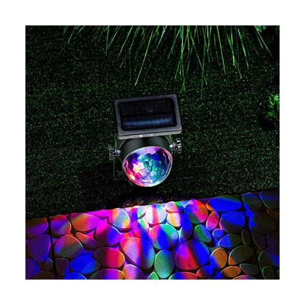 GloBrite Solar Powered Colour Changing Revolving LED Spotlight Carnival Garden Party Stake Light 3