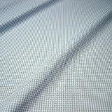 Stoff Baumwolle Seersucker Vichy Karo hellblau weiß 2,5 mm