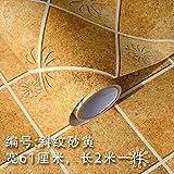 HhGold Art Aufkleber Aufkleber Küche Anti-fett Aufkleber Wandaufkleber WC Wasserfeste Selbstklebende Tapete hochtemperaturbeständige Badezimmer Fliesen-61 cm*2 m