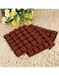 Forfar Profesional Molde de Chocaloate Silicona Letters Alphabet Cake Fondant Molde Caramelo de las galletas del chocola