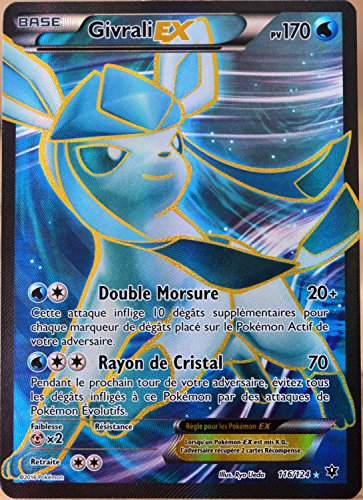 carte Pokémon 116/124 Givrali Ex 170 PV - FULL ART XY - Impact des Destins