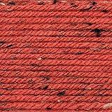 Rico Design Das Riesenknäuel 400g Basic Super Big Tweed Aran - Farbe 006 Beere - Ein Knäuel ist ausreichend für Einen Pullover in Größe 40