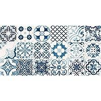 VINILIKO Alfombra de vinilo, Port Grimaud, Azul, 50x100 cm