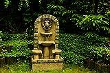 """Köhko Springbrunnen """"Leipzig"""" Gartenbrunnen mit Löwenkopf Brunnen für Garten und Terrasse inkl. Pumpe"""