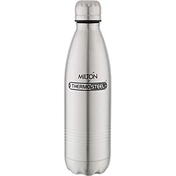 Milton Thermosteel Duo Deluxe-750 Stainless Steel Water Bottle, 700ml, Silver