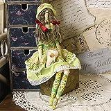 handmade4u Künstlerpuppe Tilda mit Herz Landhaus Shabby Puppe Stoffpuppe Vitage Nostalgie