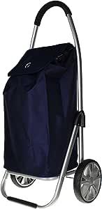 Eurotravel Einkaufswagen, Einkaufstrolley, Einkaufsroller klappbar (dunkel blau)
