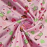 2 Meter Stoff Kinderstoff Baumwolle rosa Eiscreme