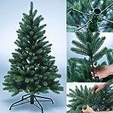 PROHEIM Premium Voll-PE Weihnachtsbaum inklusive Standfuß künstlicher Tannenbaum mit Stecksystem 100% aus PE Spritzguss hergestellt Christbaum B1 schwer entflammbar Größe wählbar, Größe:120 cm