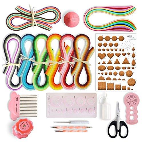 Juya Crafts Top Shop juya Paper Quilling Kit Transformation Papier avec 960bandes et 13instruments Rose Largeur papier 3mm