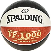 Spalding Lnb TF1000 Legacy Ballon de Basket-Ball Mixte Adulte, Noir/Orange/Blanc, Taille 7
