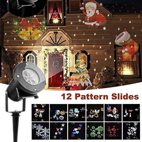 (LED-Weihnachten Projektor-Lichter, Außendekoration Projektor-Lichter Schneeflocke-Projektor-wasserdichter beweglicher Landschaftsprojektor)