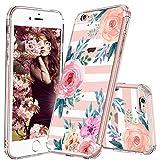 MOSNOVO iPhone 6S Hülle, iPhone 6 Hülle, Streifen Blumen Muster TPU Bumper mit Hart Plastik Hülle Durchsichtig Schutzhülle Transparent für iPhone 6 / iPhone 6S (Stripes Floral)