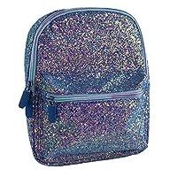 Spearmark Peacock Glitter Back Pack, Pink & Blue, 8 x 21.5 x 26 cm