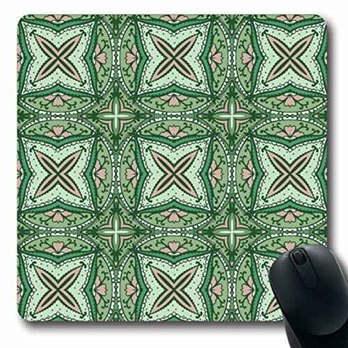 Luancrop Mousepads Farbarabisches abstraktes Feiertags-helles Teppich-Kreis-Entwurfs-rutschfeste Spiel-Mausunterlage Gummi-längliche Matte -