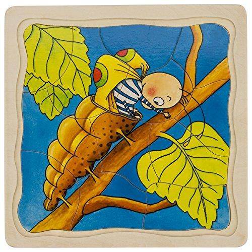 Goki 57523 - Schichtenpuzzle - Die Raupe -
