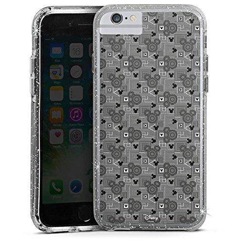 Apple iPhone 6 Plus Bumper Hülle Bumper Case Glitzer Hülle Disney Mickey Mouse Geschenke Fanartikel Bumper Case Glitzer silber