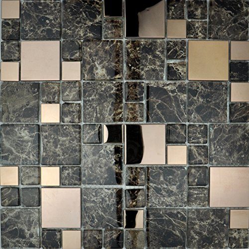 metallic-modular-bathroom-kitchen-mosaic-tile-copper-emperador-marble-effect-full-sheet-30x30cm