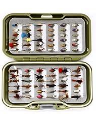 GS Fly Box Set mixtes truite Pêche à la mouche mouches Taille 12x MIXTES sèche pipi Nymphe et doré Tête Tchèque Nymphes X 72mouches Superbe Petit cadeau de pêche de Noël ou idée de cadeau