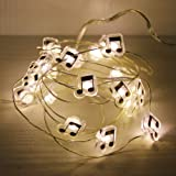GUOCHENG Music Note Accessories Firefly Moon String Lights Battery Power LED Decorative Starry String Light for Wedding Party