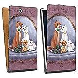 Sony Xperia Z Ultra Tasche Hülle Flip Case Disney Aristocats Fanartikel Merchandise