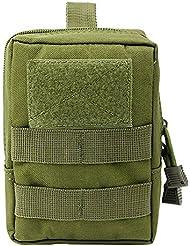 airsson táctico Molle bolsa utilidad médico primeros auxilios bolsa funda soporte Velcro Militar Gadget cintura bolsa 1000d Nylon, Olive Drab