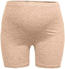 Voberry@ Women's Maternity Underwear, Maternity Shapewear Flat Edge Pettipant Seamless Soft Abdo Underwear