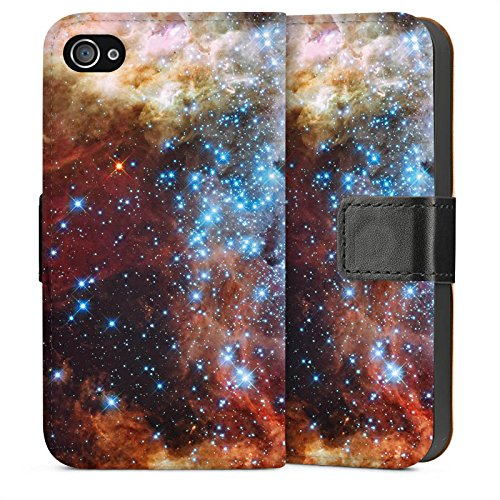 Apple iPhone 4 Housse Étui Silicone Coque Protection Galaxie Motif Motif Sideflip Sac