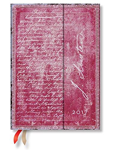 Paperblanks Faszinierende Handschriften Jane Austen Persuasion - Kalender 2017 Midi Wochenüberblick Horizontal deutschsprachige Ausgabe