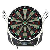 Elektrisches Dartboard Elektronische Dartscheibe LCD mit 6 Dartpfeile 43 cm für 1-8 Spieler