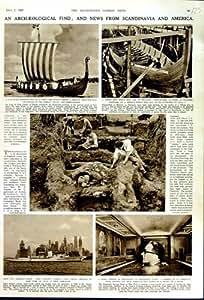 YACHT 1949 DU BATEAU ELSINORE HITLER DE VIKING D'ARCHÉOLOGIE