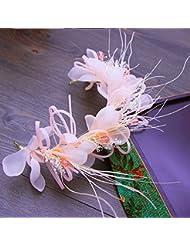 &zhou Tocado nupcial de la joyería del pelo por los accesorios 32cm del vestido de boda de la mano