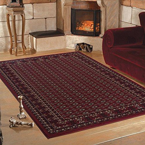 Tradizionale tappeto orientale di qualità, bordato, classico design in rosso, 6 misure, polipropilene, red, 240 x 340 cm (8' x 11'2'')