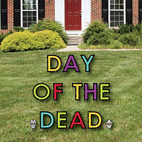 Day of The Dead - Yard Sign Outdoor Rasen Dekorationen - Halloween Sugar Skull Party Yard Schilder - Day of The Dead