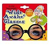 Brille mit Augen Immer Wach Spaßbrille Funbrille Scherzartikel Partybrille Scherzbrille Fasching Kostüm Accessoire