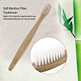 White Environment-friendly Wood Toothbrush Bamboo Toothbrush Soft Bamboo Fibre