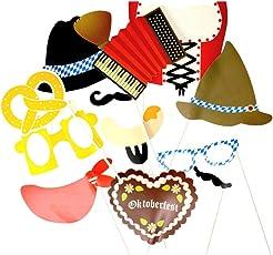 trendaffe Oktoberfest Photo Booth, der Weiß-Blaue Partyspaß - Volksfest Foto Verkleidung Foto Requisite