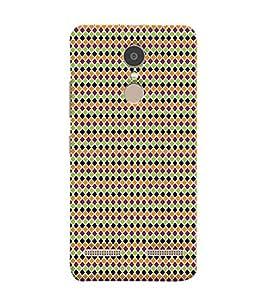 Print Masti Designer Back Case Cover for Lenovo K6 Power (Alternative Antique Square Colourful)