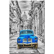 Oldtimer, Havanna, Bastidor imagen de Werner Bertsch, tamaño 80cm x 120cm, impresión digital sobre lienzo impreso, con bastidor, Espejada páginas, foto sintética, Habana, Cuba, Lienzo Montado de