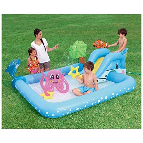 Bestway 53052–Piscine gonflable pour enfants Bestway Aquarium avec toboggan