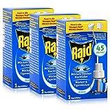 3x Raid Mücken Stecker Nachfüller für ca. 45 Nächte Mückenfrei