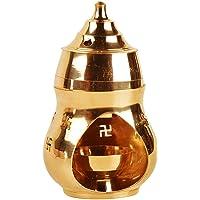 Puja N Pujari Aroma Incense Burner Camphor Lamp with Diya Oil Diffuser