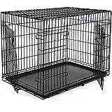 Songmics XXXL 2 Türen Hundekäfig Transportkäfig aus extra starkem Draht stabil und zusammenfaltbar PPD48H