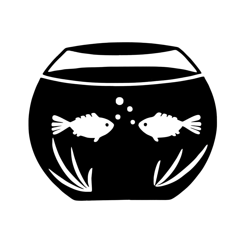 eBoot Adesivi di Interruttore al Parete Pesce Serbatoio Adesivi Finestra di Luce Interruttore Decor