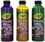 Crayola - Tempere Glitter Lavabili Assortite 3 X 250 Ml (1 ACCESSORES)