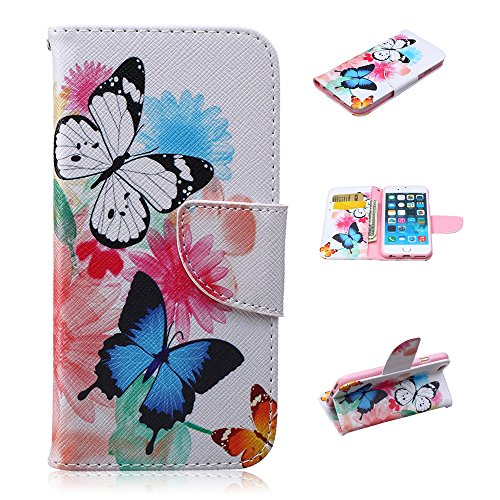 Nutbro iPhone 5C Case, iPhone 5C Case, iPhone 5C Wallet Case, Luxury Pu Leather Magnet Wallet Flip Case Cover with Built-in Credit Card/ID Card Slots for iPhone 5C HX-iPhone-5C-34
