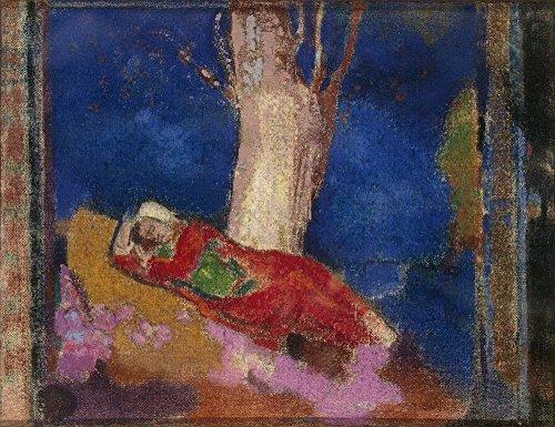 Das Museum Outlet–Frau Schlafen Unter einem Baum, 1900–01, gespannte Leinwand Galerie verpackt. 96,5x 121,9cm